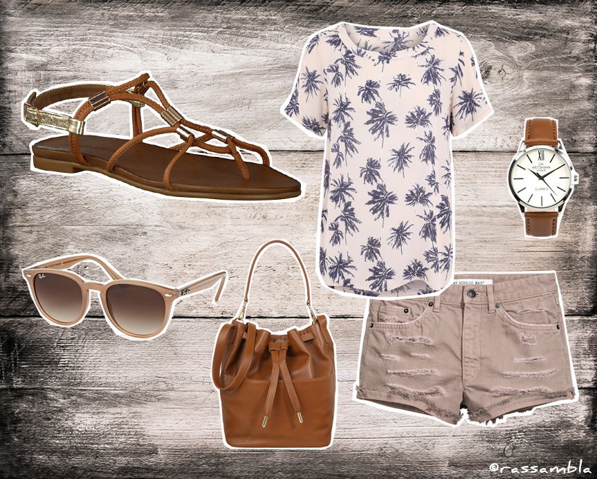 Outfit mit Sandalen - City Safari