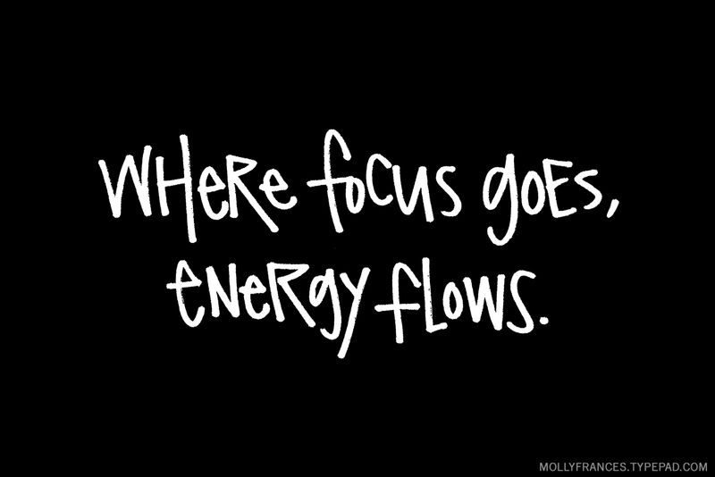 Mein Wort für 2019: Fokus. Where focus goes, energy flows.